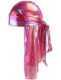 DEELIN Hombres Mujeres Seda Bandana Hat DURAG Rag Tail Headwrap Larga Cola  Pirata Sombrero Cabeza 9a258228b50