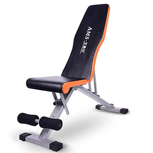 Sit-up board Xinjin Panca Multifunzione Pieghevole con manubri, Panca inclinata Regolabile, tavoletta per Esercizi Addominali, Uso Palestra, Design ergonomico
