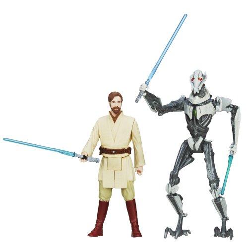 Star Wars, Mission Series Utapau Pack [Obi-Wan Kenobi y General Grievous], 3,75 pulgadas