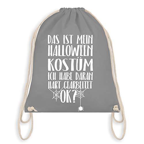 Halloween - Das ist mein Halloween Kostüm - Unisize - Hellgrau - WM110 - Turnbeutel & Gym Bag