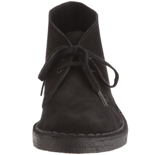 Clarks Originals Desert Boot, A bout rond femme Black (Black Suede)