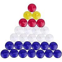 AzuNaisi Kunststoff Transparent Golfball Position Golfball Ding Marker Durable Außenballmarker 50Stk  zufällige Farbe Sport Gesundheit