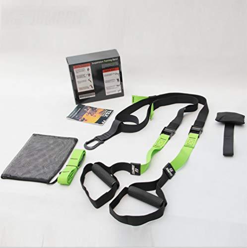 ZLQF Training – Suspension Trainer-Kit, Perfekt geeignet für unterwegs und für das Training im Innen- und Außenbereich,Green,Professionalversion