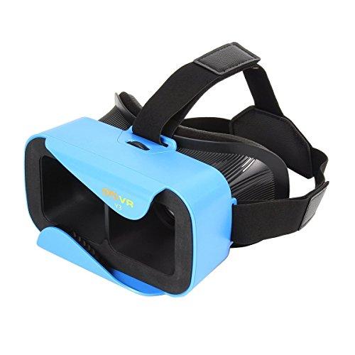UVISTAR 3D VR Brille für Handy Virtuelle Realität Headset für 4.0-6.0 Zoll Smartphones, iPhone 6s/6 plus, HTC One M, LG, Sony usw. Für 3D-Video, 3D-Filme, 3D-Game Blau
