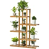 Wenhu Soporte de Plantas de Madera Maciza Estante de exhibición de macetas Estantes de Almacenamiento de