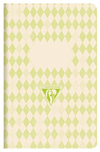 clairefontaine-105536-c-a5-rayas-back-to-basics-portatil-de-lomo-cosido-color-verde-pack-de-3