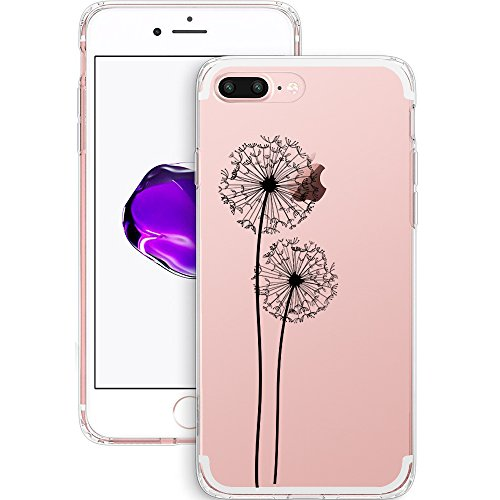 iPhone 7 Plus Hülle, JEPER iPhone 7 Plus Schutzhülle Weiche Transparent TPU Silikon Schutzhülle Case Silikon Crystal Clear Ultra Dünn Durchsichtige Backcover Handyhülle TPU Case für Apple iPhone 7 Cov pattern03
