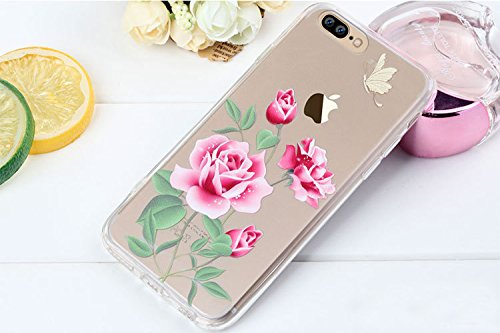 iPhone 7 Plus Case , Bonice iPhone 7 Plus Cover,Bonice Colorato Ultra Thin Morbido TPU Silicone Rubber Clear Trasparente Back Creativo Case –pulcino 02 model 3
