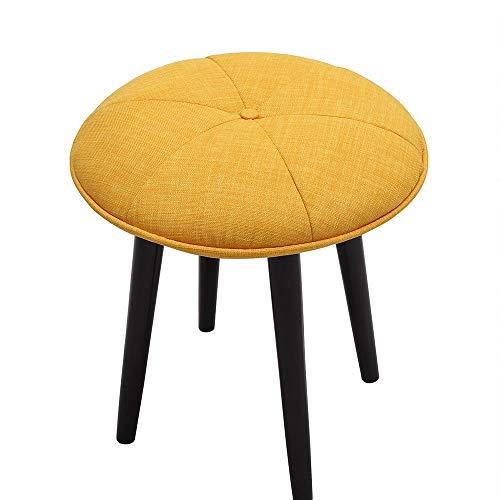 QKL Stühle Massivholzschuhe Hocker Niedriger Hocker Stoff Sofahocker Designerhocker Einfacher Hocker Größe optional Hocker (Farbe: A),EIN