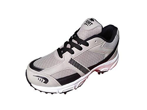 Port Men's Blaster Grey PU Cricket Shoes (Size 6 ind/uk)