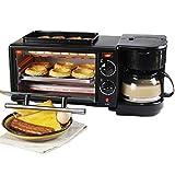Mikro-Elektrischer 3in 1Brot Toaster Backofen mit Backblech und Kaffeemaschine