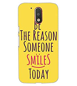 ColourCraft Quote Design Back Case Cover for MOTOROLA MOTO G4