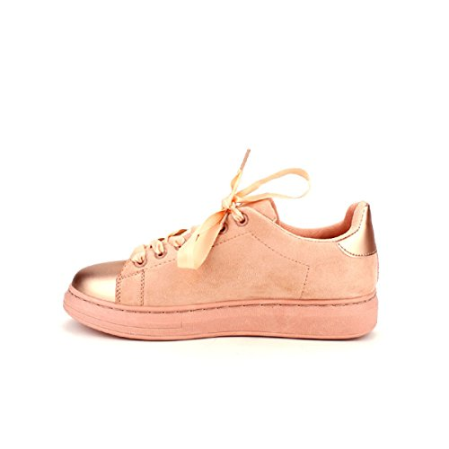 Cendriyon Basket Rose Daim Queens Chaussures Femme Rose