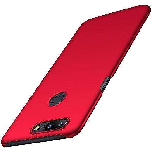 OnePlus 5T Hülle, Anccer [Serie Matte] Elastische Schockabsorption und Ultra Thin Design für Oneplus 5T [Serie Matte] (Glattes Rot)