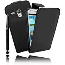 Etui Housse Luxe pour Samsung Galaxy S3 III Mini + STYLET et 3 FILMS OFFERTS !!