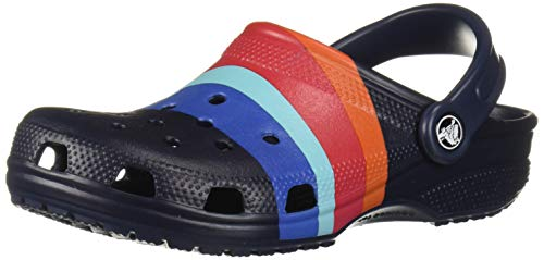 crocs Unisex-Erwachsene Classic Seasonal Graphic U Clogs, Blau (Navy/Multi 4hq), 43/44 EU -