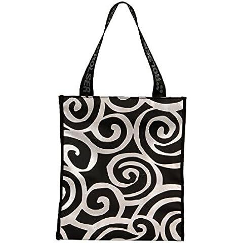Rolser Spiral - Bolsa de mano, color plata y negro