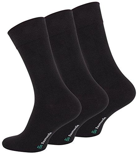 Lot-de-12-paires-de-Hommes-Business-chaussettes-noir-en-coton-biologique