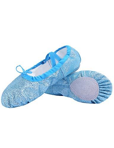 Hawiton Zapatillas de Ballet niña Punta 2-7 años, Elástico Medias Puntas de Ballet Profesionales...