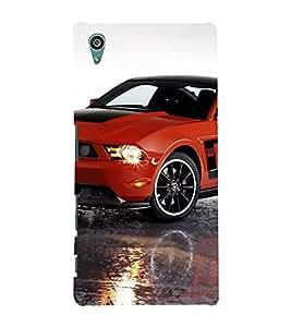 EPICCASE Red Car Mobile Back Case Cover For Sony Xperia Z5 Premium / Z5 Plus (Designer Case)