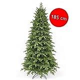Triumph Tree Kunst-Tanne 'Sherwood Spruce Slim Line' grün - Höhe 185 cm, 109 cm Durchmesser - naturgetreuer Weihnachtsbaum in Fichtenoptik - künstlicher Weihnachtsbaum mit 1116 Zweigen