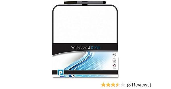 P2436 A4 Mini Whiteboard /& Pen With Eraser Office Notice Memo White Board