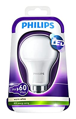 Philips 230 V B22 Bayonet 9 W LED Light Bulb - Warm White Frosted