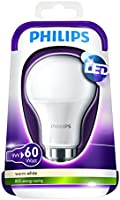 Philips - Ampoule LED Standard - Culot B22 - 9W Consommés (Équivalent 60W Incandescent) - 2700 Kelvin