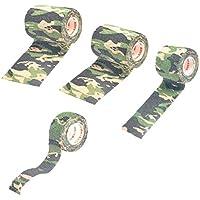 Fenteer 4 Stück Camouflage Tape, Sport Bandage, Haftbandage, elastischer Fixierverband, elastische Binde preisvergleich bei billige-tabletten.eu