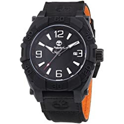 Timberland Hookset Men's Quartz Watch with Black Dial Analogue Display and Black Nylon Strap 13321JSB/02