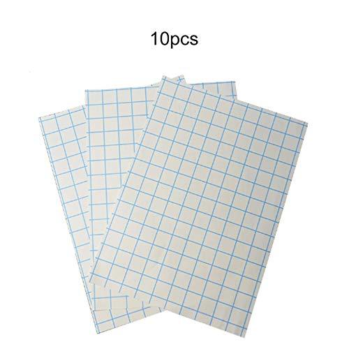 10 fogli A4 Carta transfer digitale Tipo a strappo termico Colore scuro Stampa veloce per qualsiasi materiale Tessuto di cotone Ferro per getto d'inchiostro - Bianco