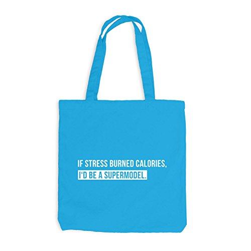 Jutebeutel - If Stress Burned Out, I'd Be A Supermodel. - Job Work Surfblau