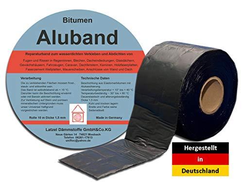 Bitumen Aluband Reparaturband Dichtband Farbe Schwarz 50 mm - Rolle 10 Meter
