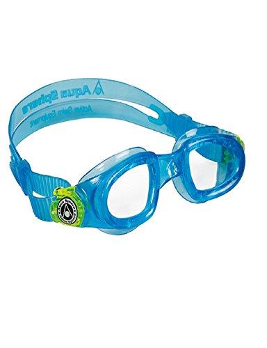 Aqua Sphere - Occhialini Da Nuoto Moby Kid Aqua Celeste E Giallo