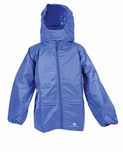 Regenjacke, für Jungen und Mädchen, aus Polyester, für Kinder zwischen 9 und 10 Jahren, zum Zusammenfalten, Farbe Blau ()