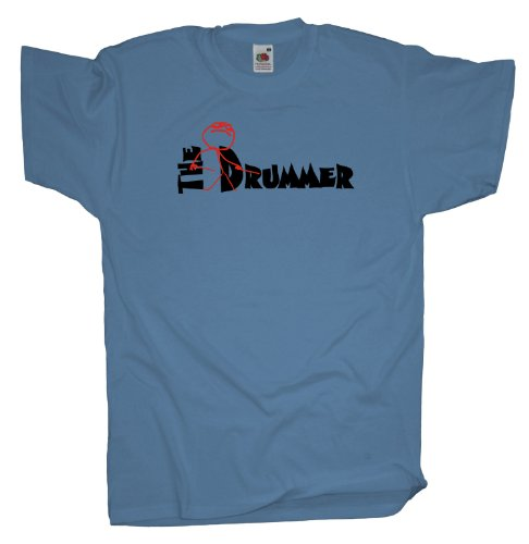Ma2ca - The Drummer Schlagzeuger - T-Shirt Skyblue