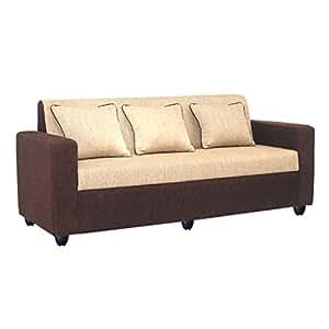 Bharat Lifestyle Tulip Fabric 3 Seater Sofa