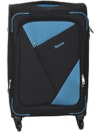 SPACE Polyester 34-Litre Black & Black Softsided Cabin Bag
