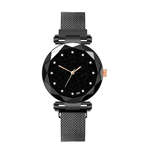 Neuer Trend  Armbanduhren LEEDY Damen Klassisch Analog Quarzuhr Magnetband Sternenklarer Himmel Simulierter Diamant Dial Armbanduhr Frauen mit Edelstahl Armband - Uhren Diamanten Damen Ebel