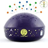 """The Little Prince """"Touch Active, Easy Clean"""" Twilight Constellation Galaxy Round Projector Night Light by Lumitusi"""