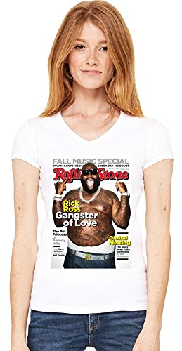 Rick Ross Rolling Stone Cover Womens V-neck T-shirt XX-Large -