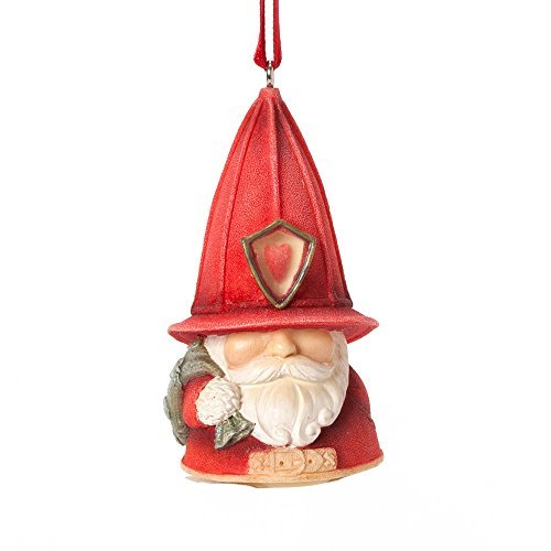 Gnome Ornament (Enesco Heart of Christmas Gift Fire Gnome Ornament, 2.76-Inch by Enesco)