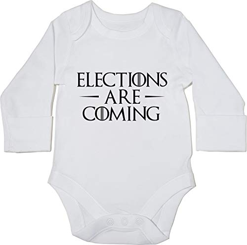 HippoWarehouse Elections Are Coming Body Manga Larga Bodys Pijama niñ