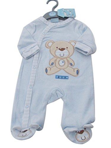 bnwt-tiny-baby-prematuri-neonato-bambino-piccolo-panda-velluto-pigiama-vestiti-blue-3-6-mesi