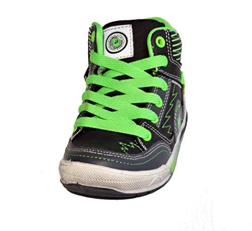 TMY 5126A stylische Kinder hohe Sneaker in Schwarz-Grün GR.: 25-36 Schwarz/ Grün