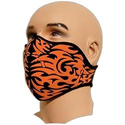 Bestellmich masque de motard avec tatouage en néoprène filtrant la poussière convenant aussi au snowboard, au ski, aux sports extrêmes, au paintball tête de mort