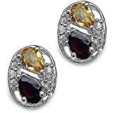 Silvancé - Women's Earrings - 925 Sterling Silver - Genuine Citrine - E371CG_SSR