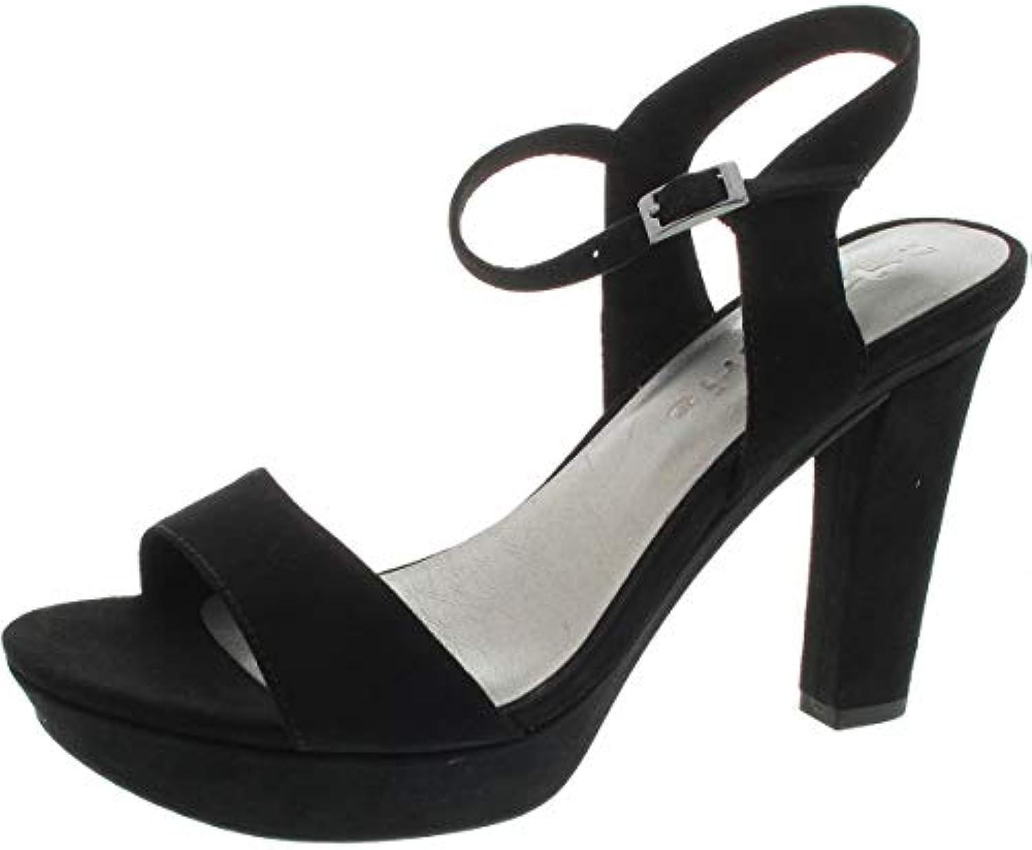 Tamaris 1-1-28398-22, Sandali con Cinturino alla Caviglia Donna | Elegante Nello Stile  | Scolaro/Signora Scarpa