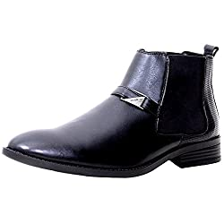 Valentino Genuine Leather Men AMAZONA95BLACK Formal Shoes