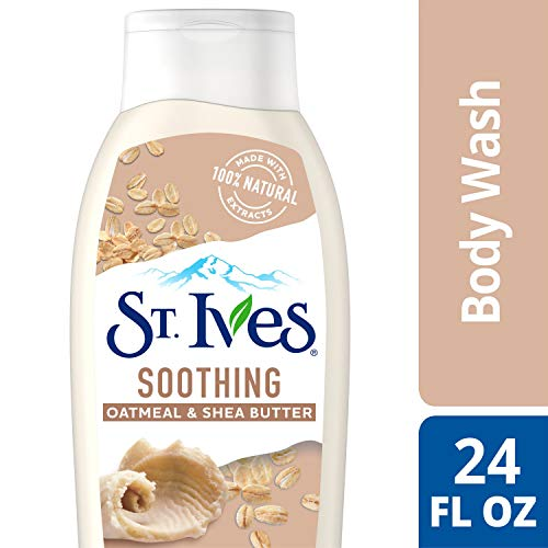 St Ives Body Wash 24oz Oatmeal & Shea Butter (2 Pack) by St. Ives (Shea Butter Body Wash)